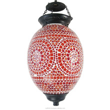 Traditional mosaic lamp Beautiful Hanging light Glass Mosaic Chandelier Lamp