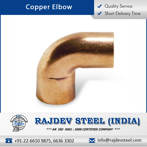 Well Finished, Smooth Surface Copper Elbow Pipe with Extreme Tensile Strength
