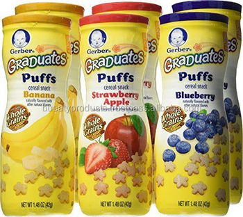 Gerber Graduates Puffs Variety Baby Cereal Snacks Pack Of