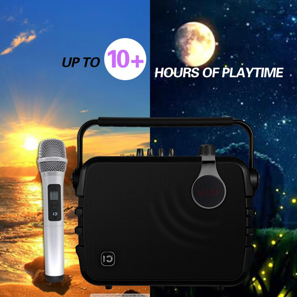 shidu Portable 60W Party Speaker with Wireless Handheld Mic