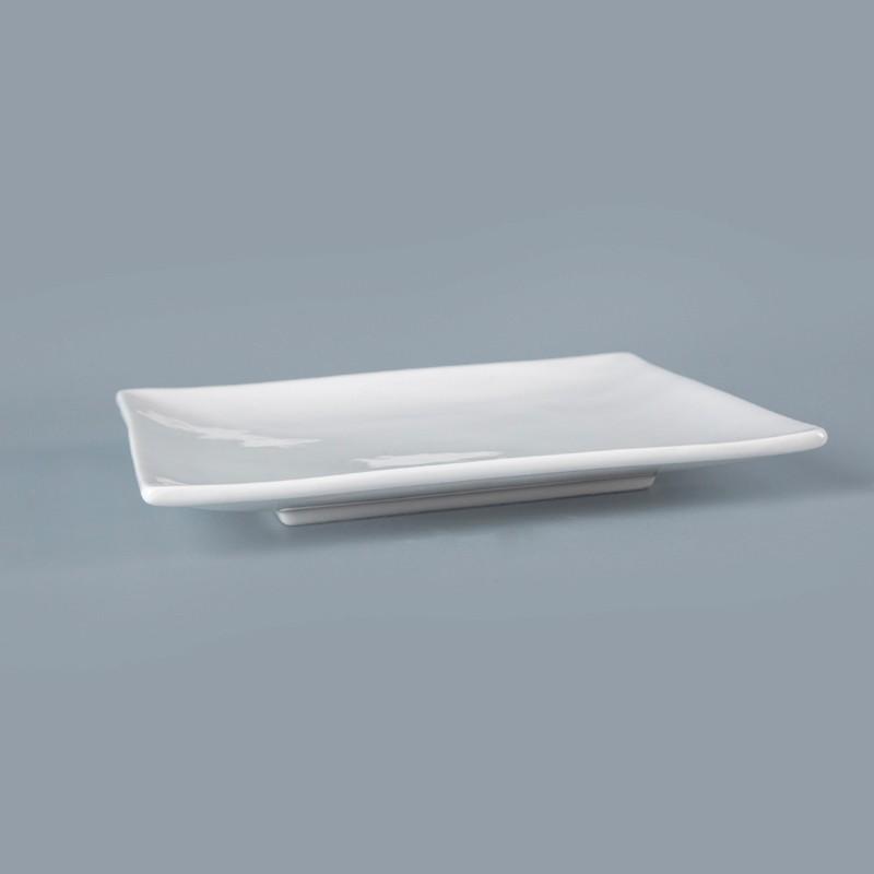 product-2018 New Porcelain White Banquet RestaurantSquare Dinner Plates, Ceramic Square Plate Square
