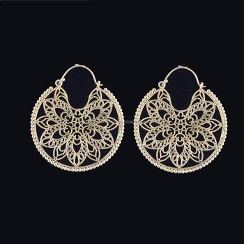 cf3b4ceeb Indian Filigree Hoop Jewelry - Bohemian Hoop Earrings - Seed Beads Hoop  Earrings - Gypsy Boho