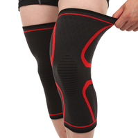 Silicone Anti-Slip Knit Sport Knee Sleeve Brace Guard Pad Protector,Joint Pain and Arthritis Relief, Improved Circulation