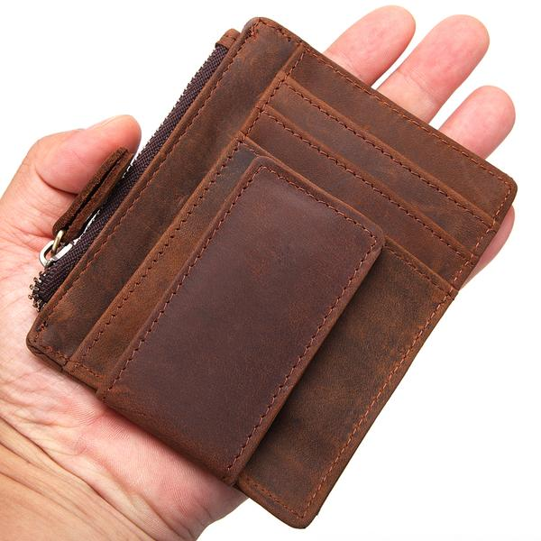 1ee79f12ce51 Natural Handmade Slim Leather Wallet card holder unisex card wallet men and