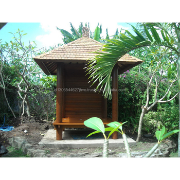 New Design Durable Out Door Garden Gazebo Bali Huts with Wooden Roof