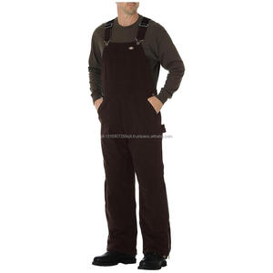 cotton workwear overall khaki working uniform bib and brace overall