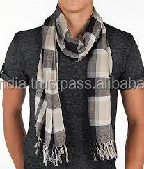 organic cotton mens plaid scarf