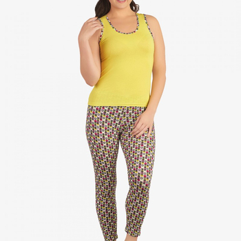 c23594a1ed87 Sleeveless Top And All Over Printed Leggings Active Wear For Girls ...