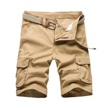 Men Cargo Shorts Multi Pockets Half Trousers