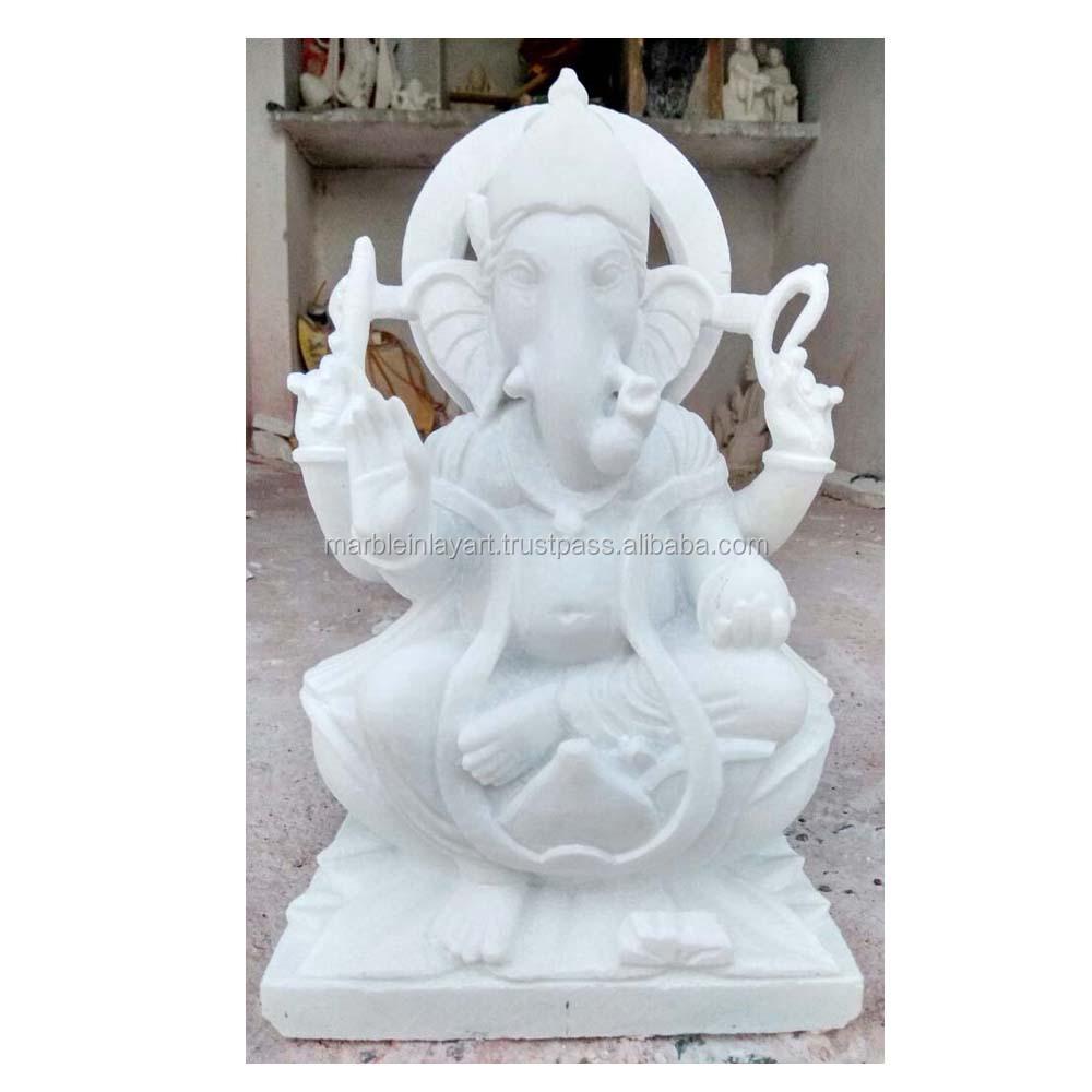 White Marble Ganesh Statue Corporate Gift Buy Ganesha Statue