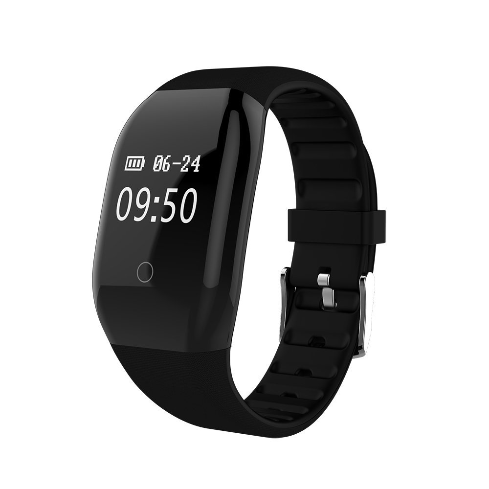 DEXUNWEI Fitness Tracker with Heart Rate 608HR 0.66 OLED 4.0 Bluetooth IP67 Waterproof and Dustproof Sports Wristband Sleep Monitor Flip Screen for Android and IOS (Black)