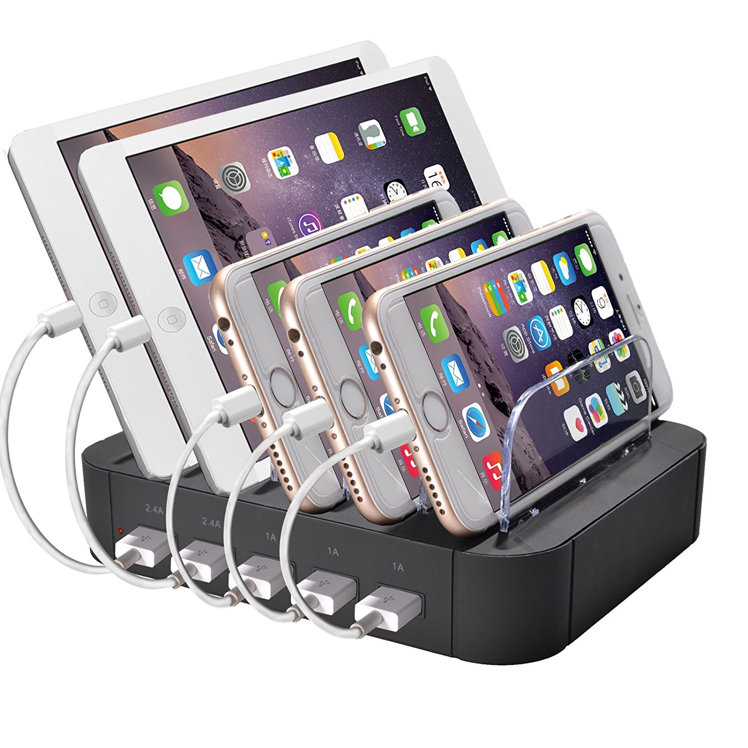 Get Quotations Usb Charging Station Universal Multi Port Dock Charger Organizer For Multiple Devices