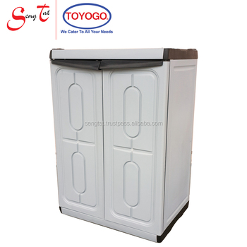 Plastic Waterproof Durable High Quality Cabinet With Swing Doors