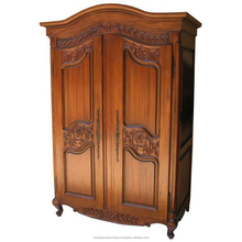 Arch Topped Antique Reproduction Armoire Furniture with carved doors - Classic Antique reproduction Furniture