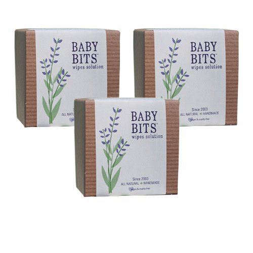 Baby Bits Wipes Solution, Set of 3 - Makes 3,000 Natural Wipes