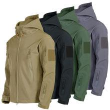 Waterproof Tactical Men's Combat Jacket Coat Army Windbreaker Outdoor Soft Shell