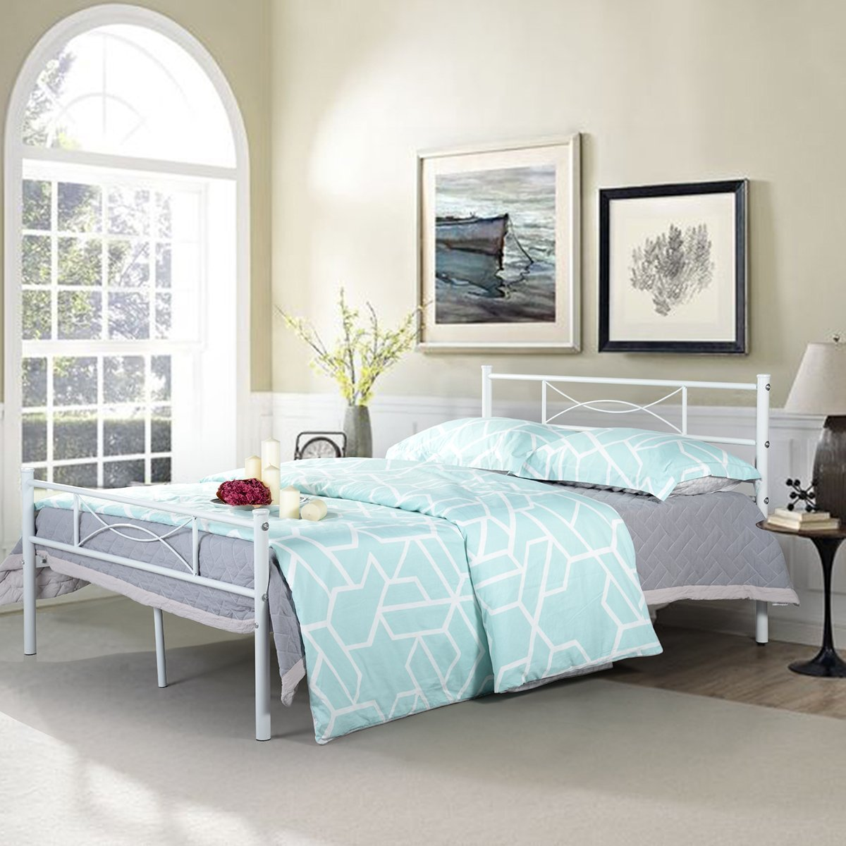 Cheap White Double Metal Bed Frame, find White Double Metal Bed ...