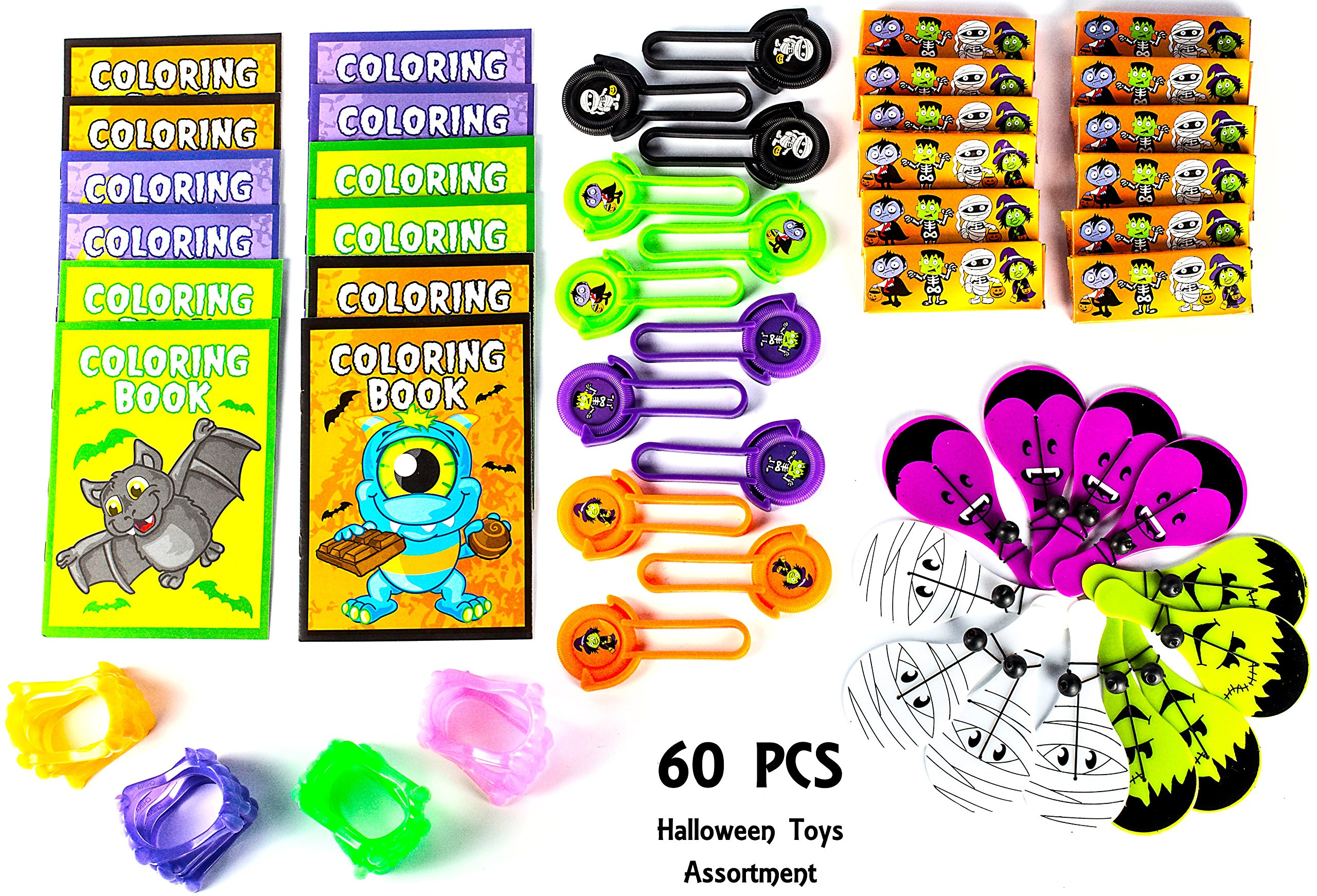 halloween party favor mega toy novelty assortment 12 halloween disc shooters 12 halloween crayons