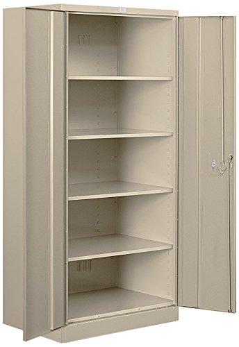 Salsbury Industries Standard Heavy Duty Storage Cabinet, 78-Inch by 18-Inch, Tan