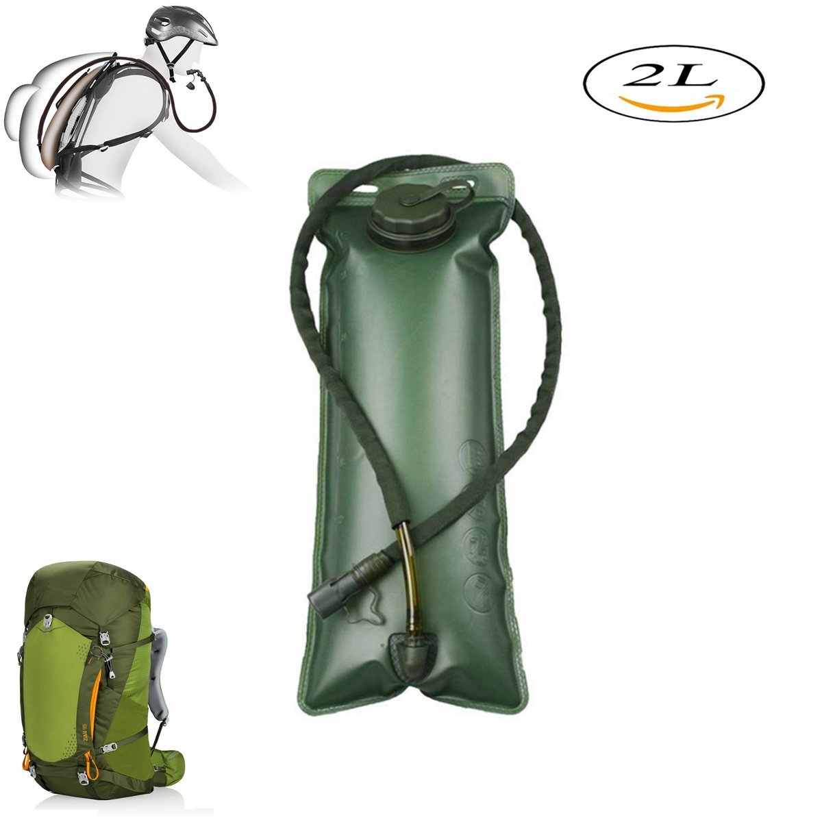 55fe495e2d Get Quotations · BOOU Hydration Bladder 2 Liter 3 Liter Water Reservoir for Water  Backpack Suitable for All kinds