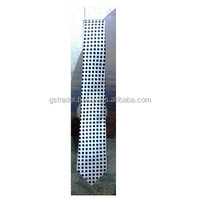 polka dota mens neck tie white with black polka