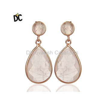 925 sterling silver jewelry Crystal Quartz Gemstone Earring handmade earring manufacturer