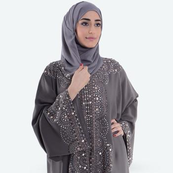 2019 High Quality mix stone design on front and sleeves NEW DUBAI FASHION LATEST DESIGN ABAYAS