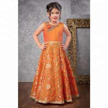 3792e0599c2a3 Wedding Kids Gown Dress / Latest Kids Designer Party Wear Evening Gown /  Kids Girl Gown