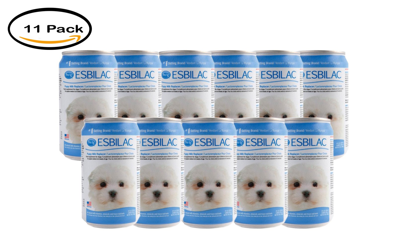 PACK OF 11- Esbilac Puppy Complete Liquid Diet, 8 oz