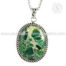 fuchsite gemstone 925 sterling silver locket pendant offers 925 sterling silver jewelry wholesaler silver pendant exporters