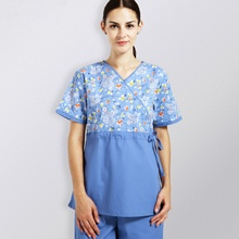 Dickies <span class=keywords><strong>Cherokee</strong></span> Scrub Uniform vrouwen Contrast Mock Wrap Scrub Suits
