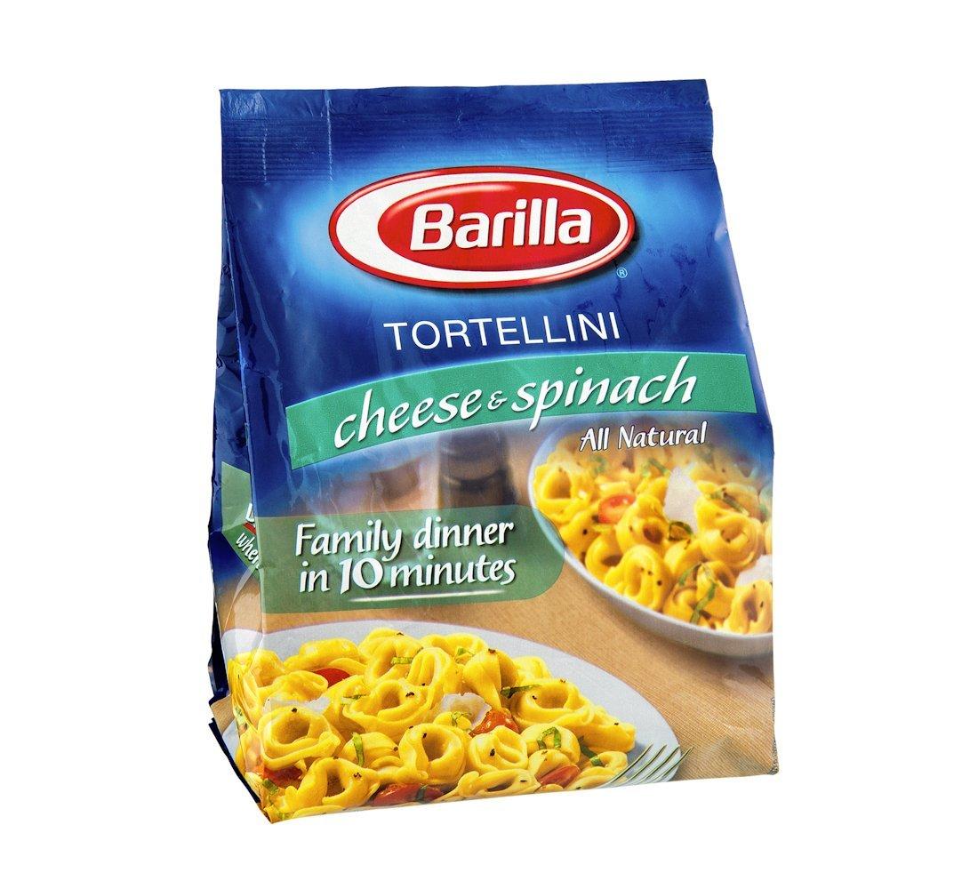 Barilla Cheese and Spinach Tortellini Pasta, 12 Ounce -- 8 per case.
