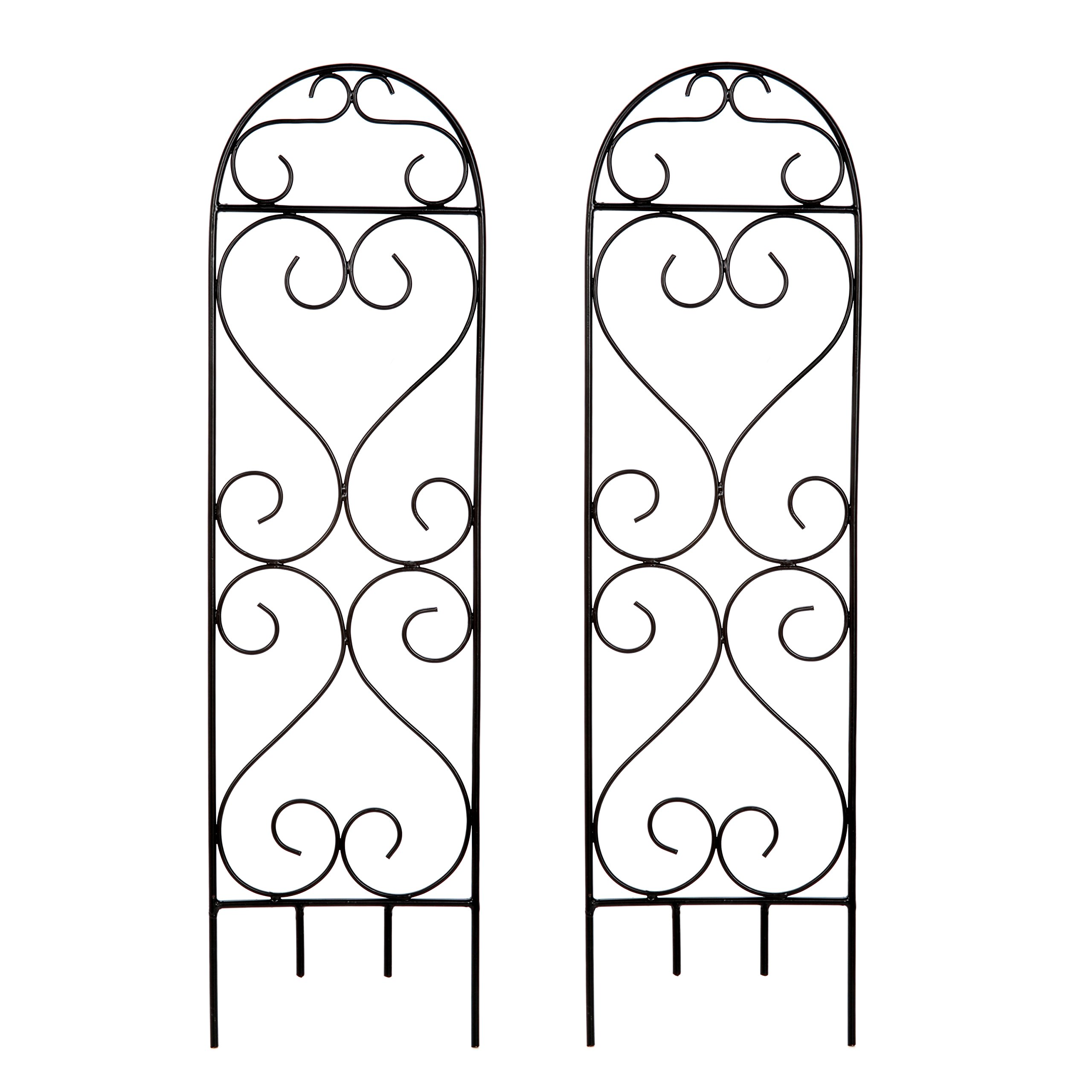"""Hosley's Set of 2 Scroll Planter Trellis, 27"""" High. Ideal Gift for Wedding or Party and Use Next to Structures (Home or Office) or in Planters for Growing Floral, Plants, Vines and Vegetables O4"""