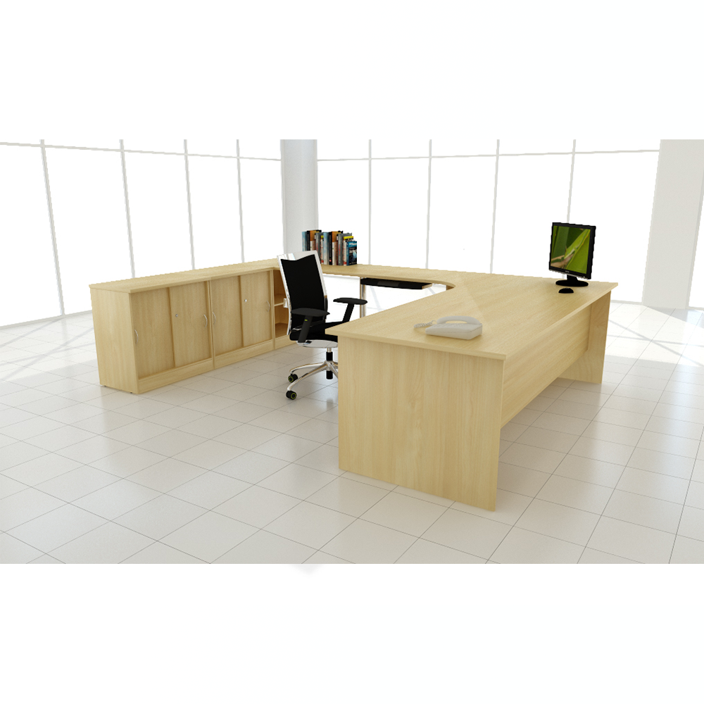 Modern wooden desk set workstation office furniture