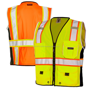MEN ANSI CLASS 2 HIGH VISIBILITY SAFETY VESTS