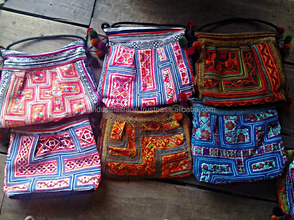 Thailand handmade hmong fabric bag Tote Bag hmong hill tribe bags wholesale