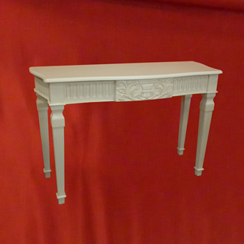 Home Furniture French Console Table White Painted Mahogany Wood Living Room Indonesia