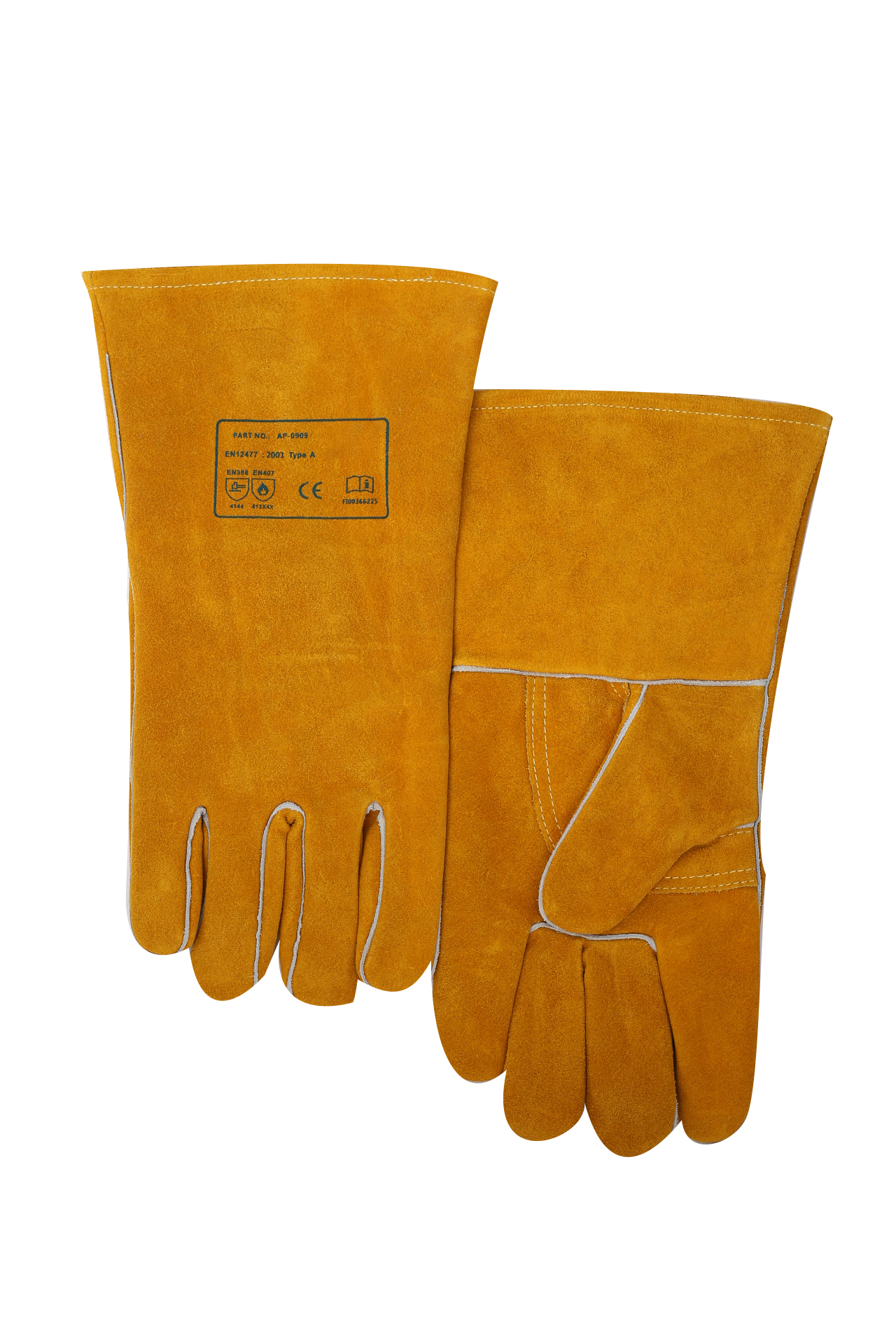 Hot Sale High Quality Hand Protect Leather Industrial Electric MIG Welding Gloves