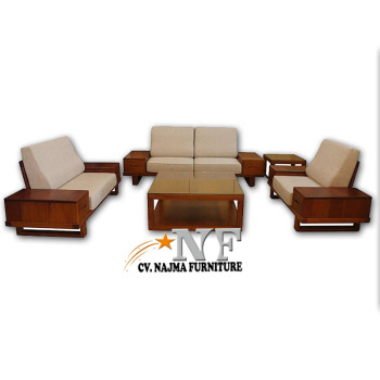 Classic Modern Wooden Sofa Set Designs Made In Indonesia