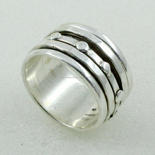 Eye Catching Design .925 Sterling Silver Spinner Ring Exporter India