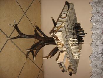 Deer Antler Chess Table