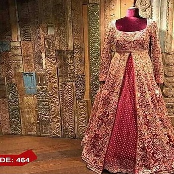 9d4cda9a414 Latest Style High Quality Pakistani Indian Wedding Bridal Maroon Red Dresses