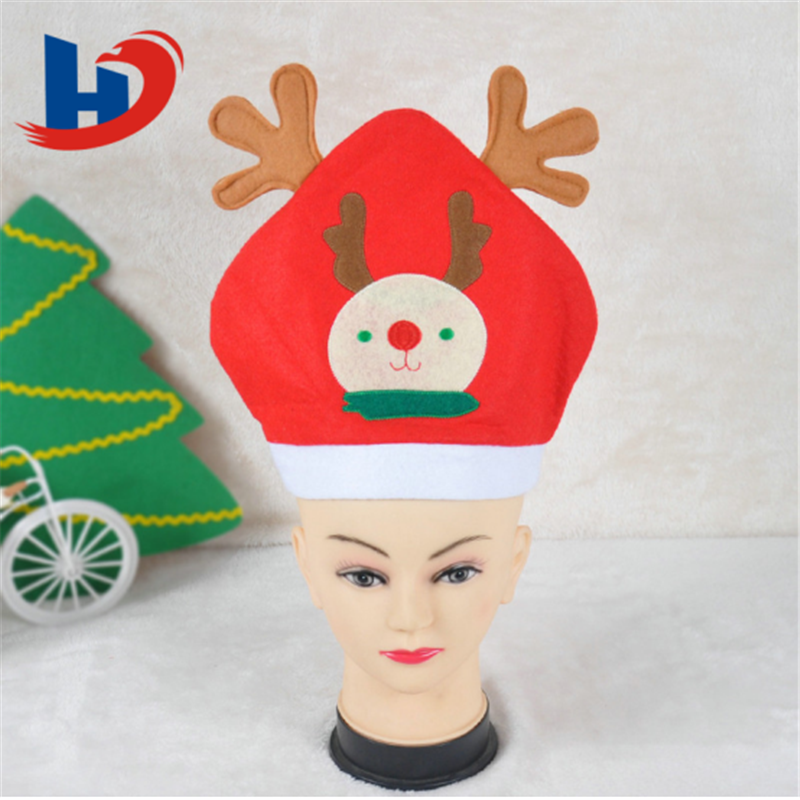Factory direct sale Christmas Decorated Felt Santa Hat