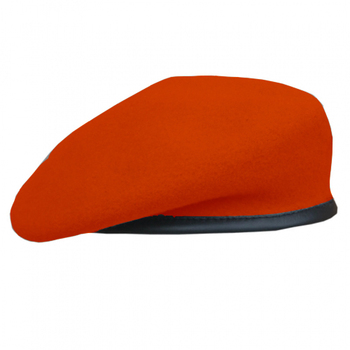 100% Red wool military beret