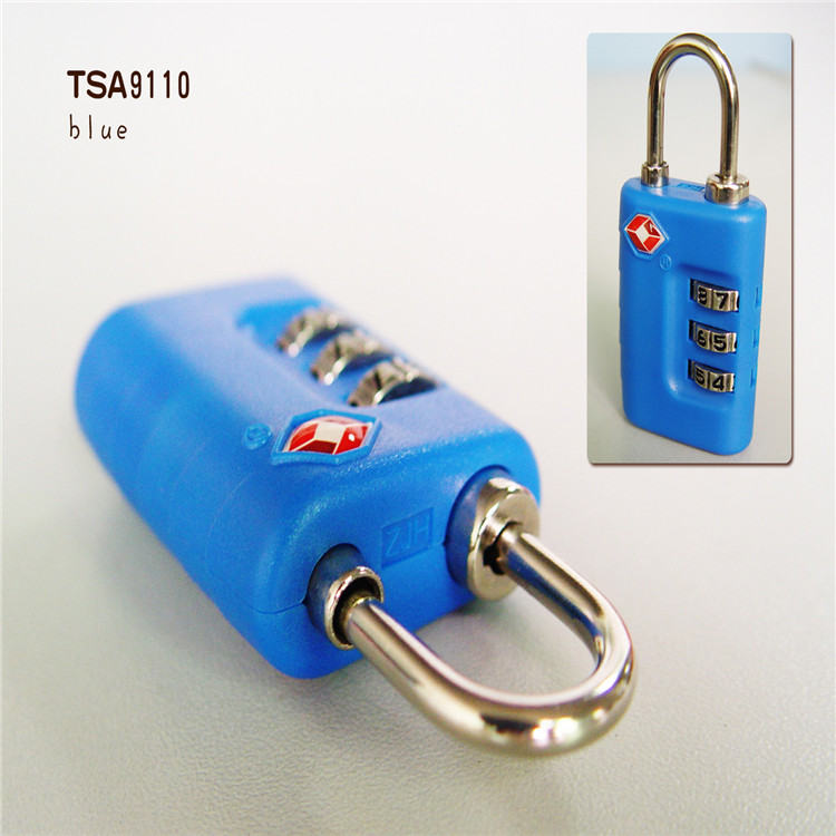 Hign end 3 combination Travel Security TSA lock for luggage/bag