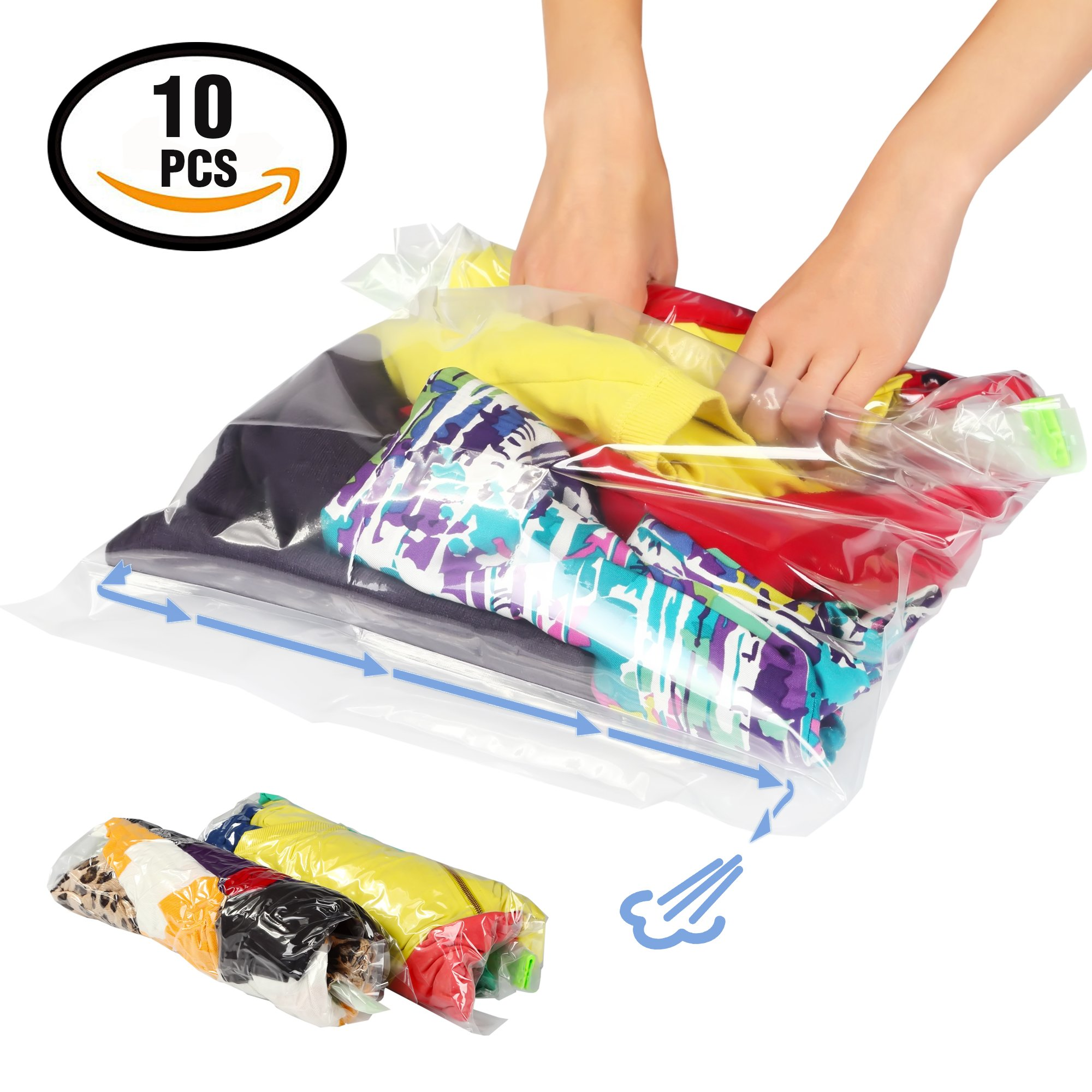 Cheap Space Bags Large Find Deals On Line At Vacum Travel Bag Get Quotations Lekors Saver 5 Medium And Roll Up Storage