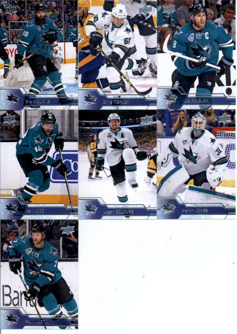 2016-17 Upper Deck Series 1 2 San Jose Sharks Team Set of 15 Cards: Brent Burns(#148), Chris Tiern