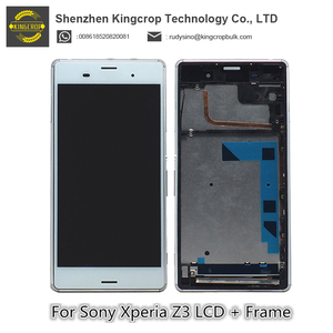 For Sony Xperia Z3 LCD L55t D6603 D6653 LCD Display Touch Screen Digitizer Frame Replacement Parts Display For Sony z3 Screen