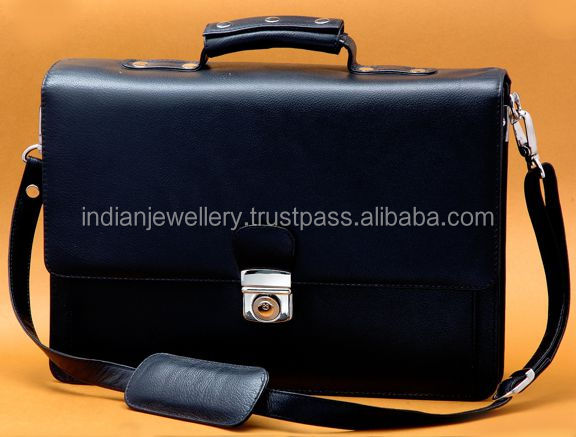 Gents shoulder bags manufacturer, genuine leather bags exporter