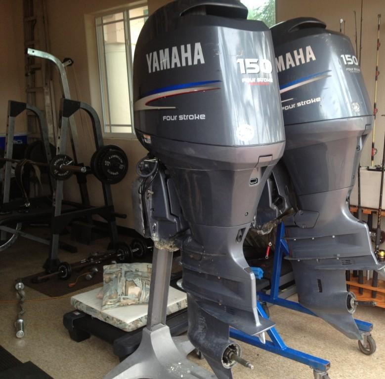 Slightly Used Yamaha 70 Hp 70hp 4 Stroke Outboard Motor